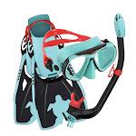 U.S. Divers Youth Snorkel Set, Black/Teal, Large