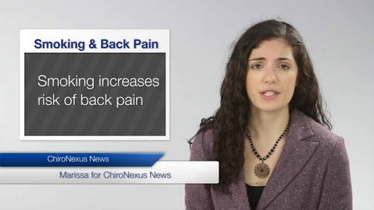 Smoking linked to back pain