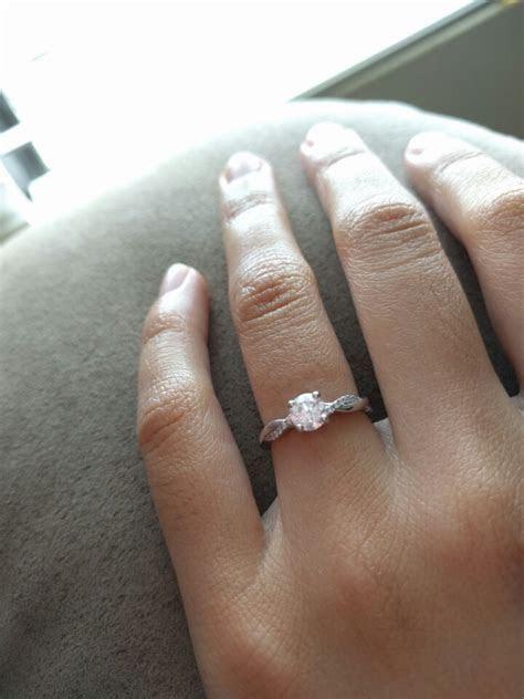 Platinum Petite Twisted Vine Round Cut Diamond Ring