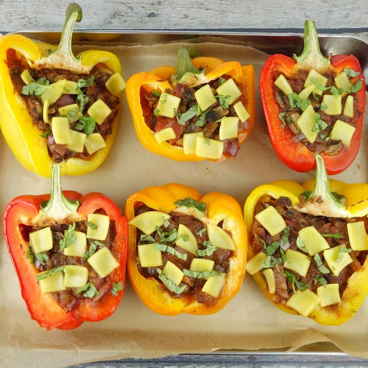 Stuffed Pizza Peppers - MegUnprocessed