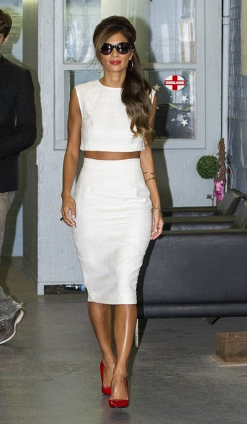Nicole Scherzinger leaves the ITV Studios in London on October 9, 2013.