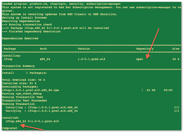 CentOS / RHEL: Install iftop To Display Bandwidth Usage Per