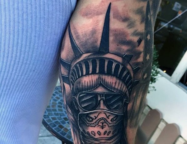 Statue Of Liberty Skull Tattoo Best And Beautiful Statue