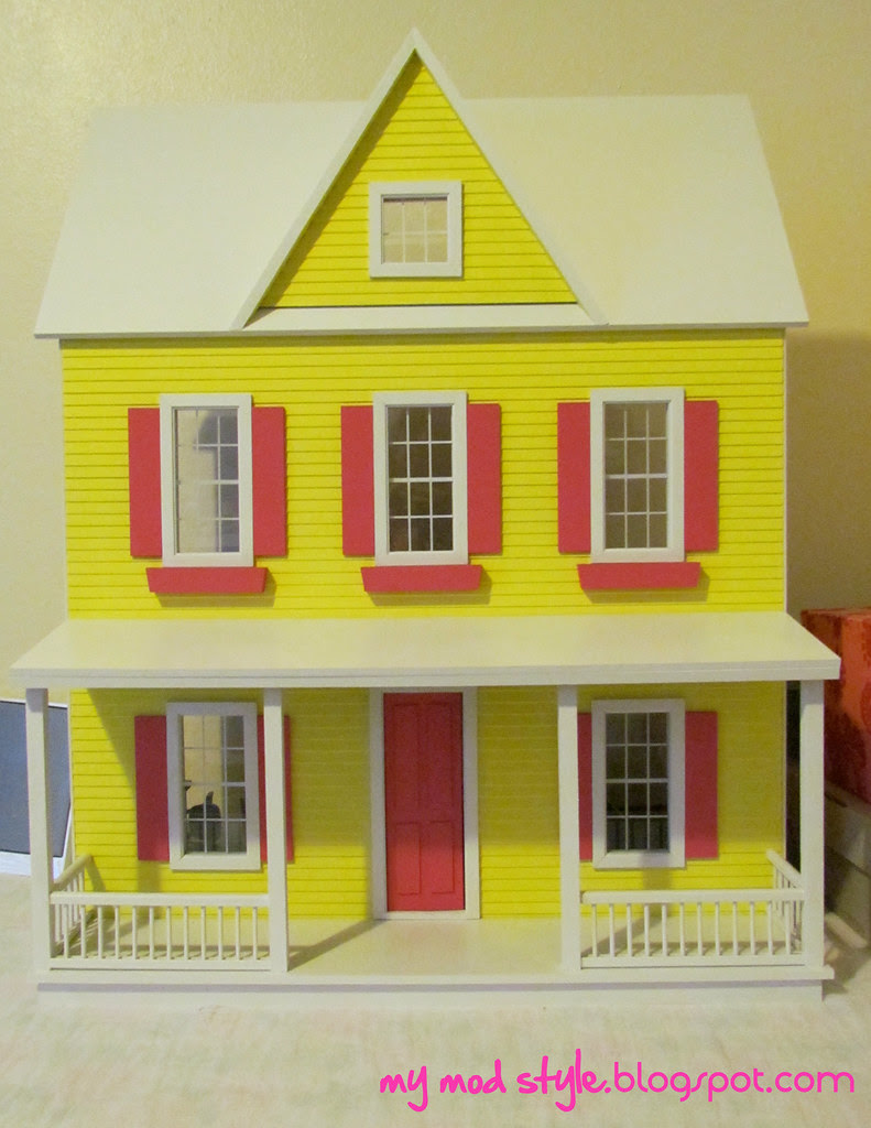 Dollhouse Painted Exterior