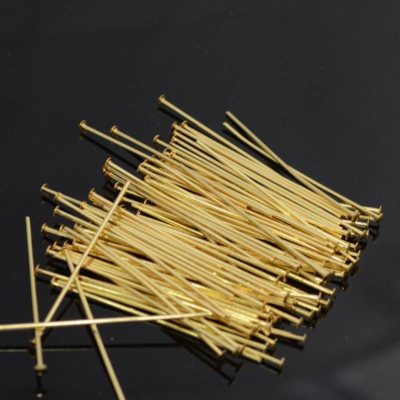 22601029 Findings - Headpins - 1.5 inch 20 gauge - Goldplated (100)