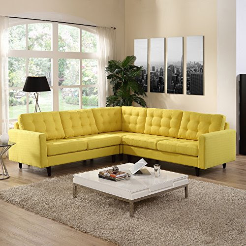 yellow popup accent. Source: Pinterest Living room: neutral ...