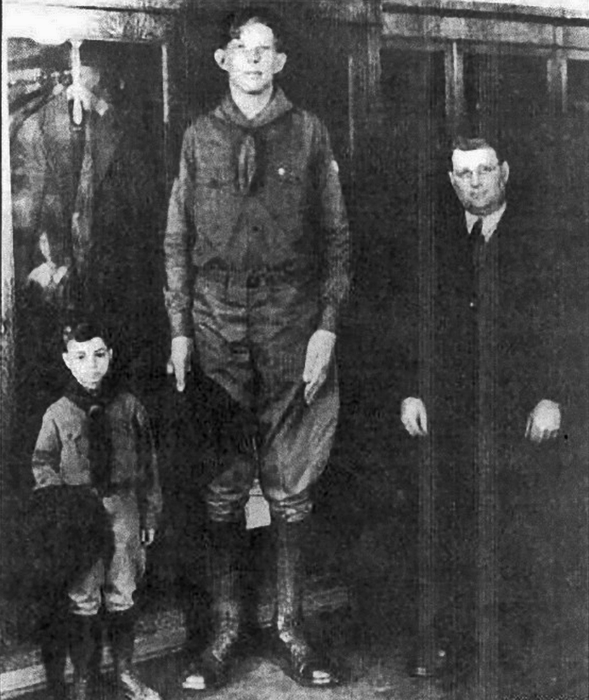 When Wadlow was a 13-year-old Boy Scout, his uniform, sleeping bag, and tent were all modified, according to Scouting Magazine. Wadlow consumed five times the normal caloric intake for his age.