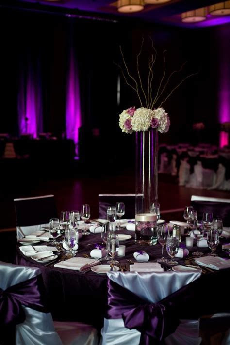 Crystie's blog: Black And Silver With Purple Wedding Table