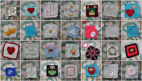 Squares already for our Royal Wedding Challenge. Want to join us? Deadline March 18th.