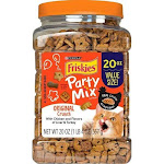 Friskies Party Mix Crunch Original Chicken, Liver and Turkey Cat Treats