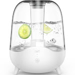 DEERMA 5L Ultrasonic Cool Mist Humidifier for Bedroom, Large Room, Office, Baby with Crystal Clear Transparent Water Tank