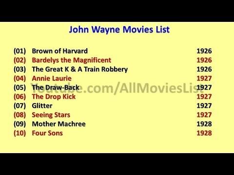 List Of John Wayne Movies