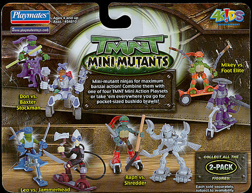 TMNT 'Mini-Mutants Extreme Sports' 2-Pack..card backer // Playmates  (( 2008 ))