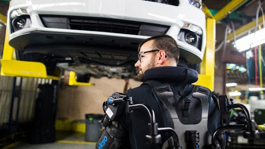 Ford Rolls Out Exoskeleton Wearable Technology Globally To Help Lessen Worker Fatigue, Injury | Ford Media Center