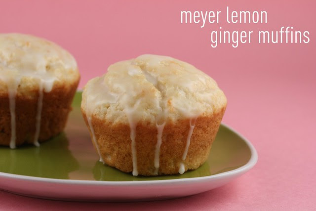 Meyer Lemon Ginger Muffins - Lemon Week 2011