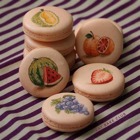 Hand painted macarons   Food Art   Macaron cookies, Pastry