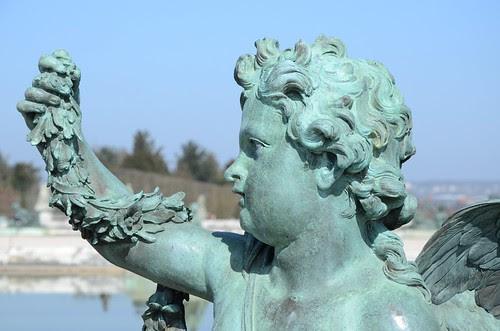 statue at water parterre, Versailles