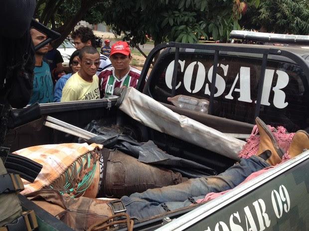 Bandidos fortemente armados morreram em confronto com a polícia em Grajaú (Foto: Divulgação / SEIC)