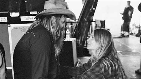 Chris Stapleton Reveals Mid Concert That His Wife Is