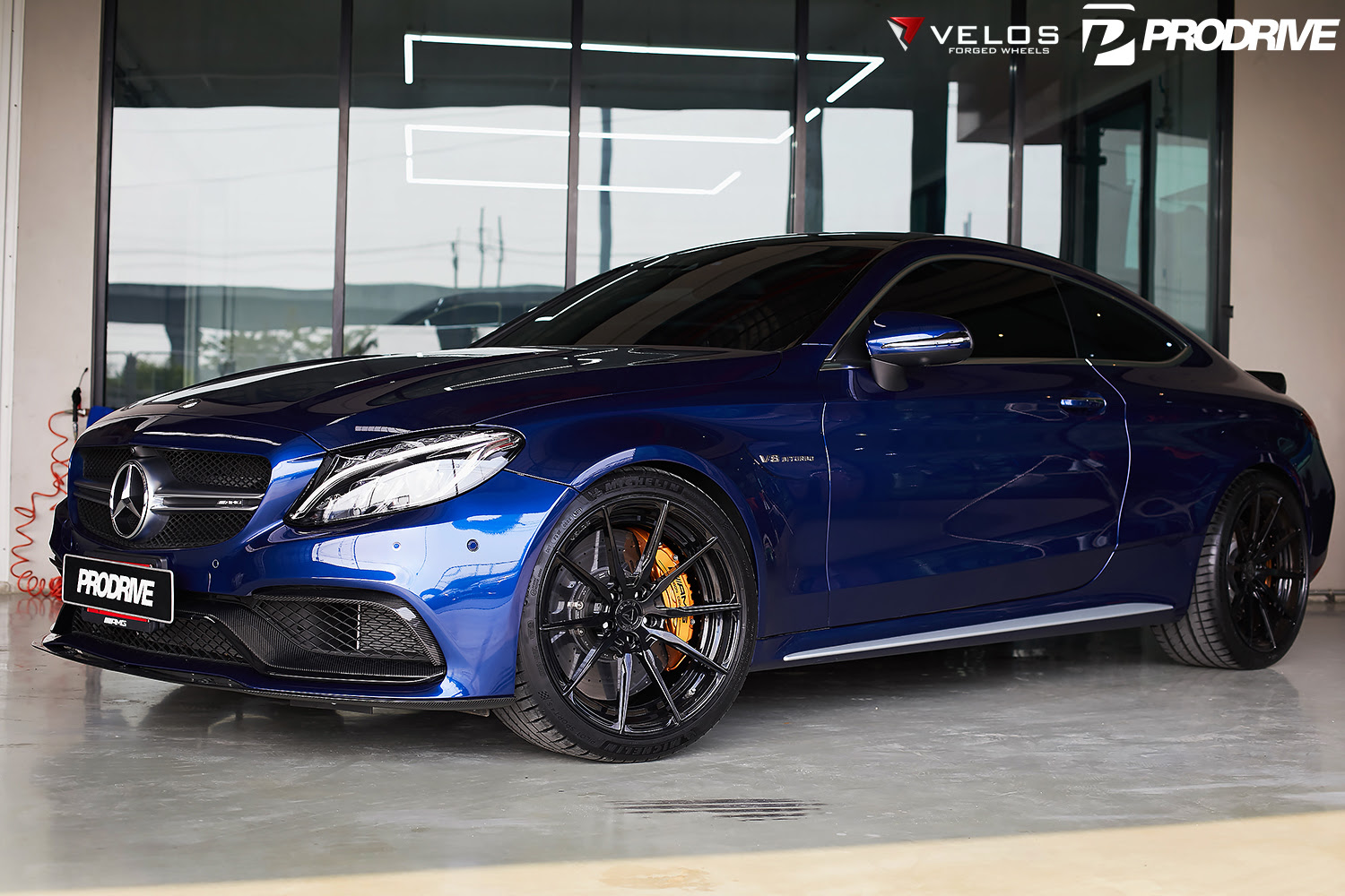 Mercedes AMG C63S Coupe on Velos S10 2 pc Forged Wheels ...