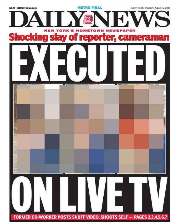 Virginia shooting: New York Daily News and other newspapers spark ...