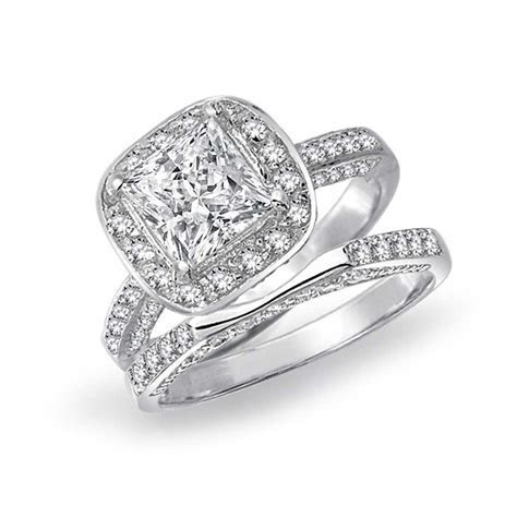 Princess Cut Square Cubic Zirconia Engagement Wedding Ring