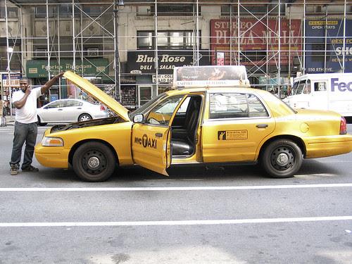 Stuck cab, 8th Avenue