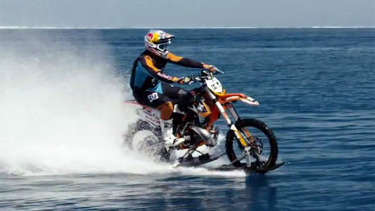 Surfing on a dirt bike! | wordlessTech