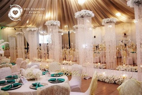 BN Wedding Decor: Great Gatsby Wedding in Nigeria by Red