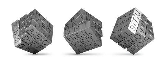 How about a Helvetica Rubik Cube to Frustrate Over? By Txaber