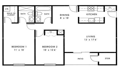 small  bedroom house plans  sq ft small  bedroom