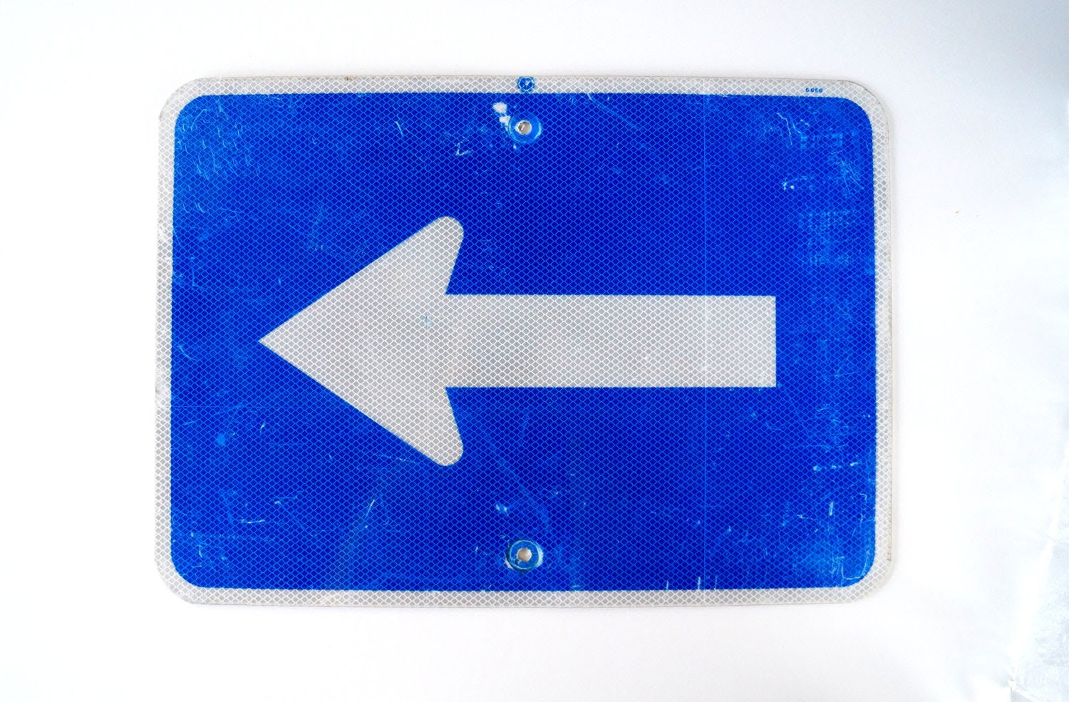 Vintage Metal Arrow Sign / Traffic Sign in Blue and by ThirdShift