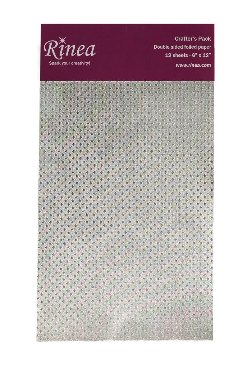 Silver/Silver Starstruck Rinea Foiled Paper