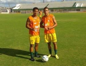 Elton Santos e Davidson, do Palmeira de Goianinha (Foto: Divulgação)