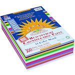 SunWorks Construction Paper Smart-Stack, Assorted - 300 sheet pack