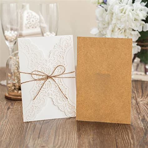 Wishmade Laser Cut Handmade Wedding Invitations Cards