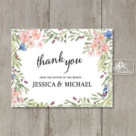 Printable Personalized Thank You Card, from PDR Printables