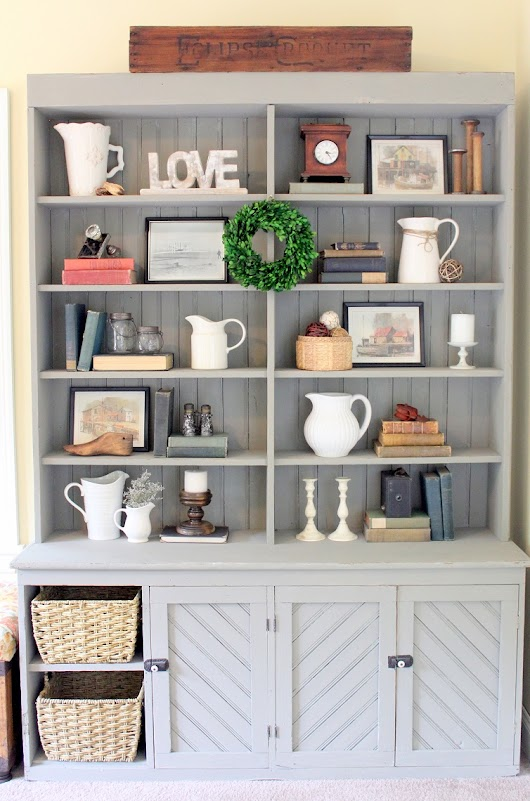 Painted Furniture - Antique Hutch Makeover with Pure & Original Paint - Life on Kaydeross Creek