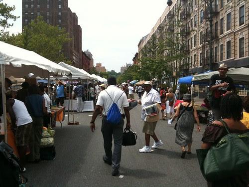 Looking west @ Harlem Book Fair