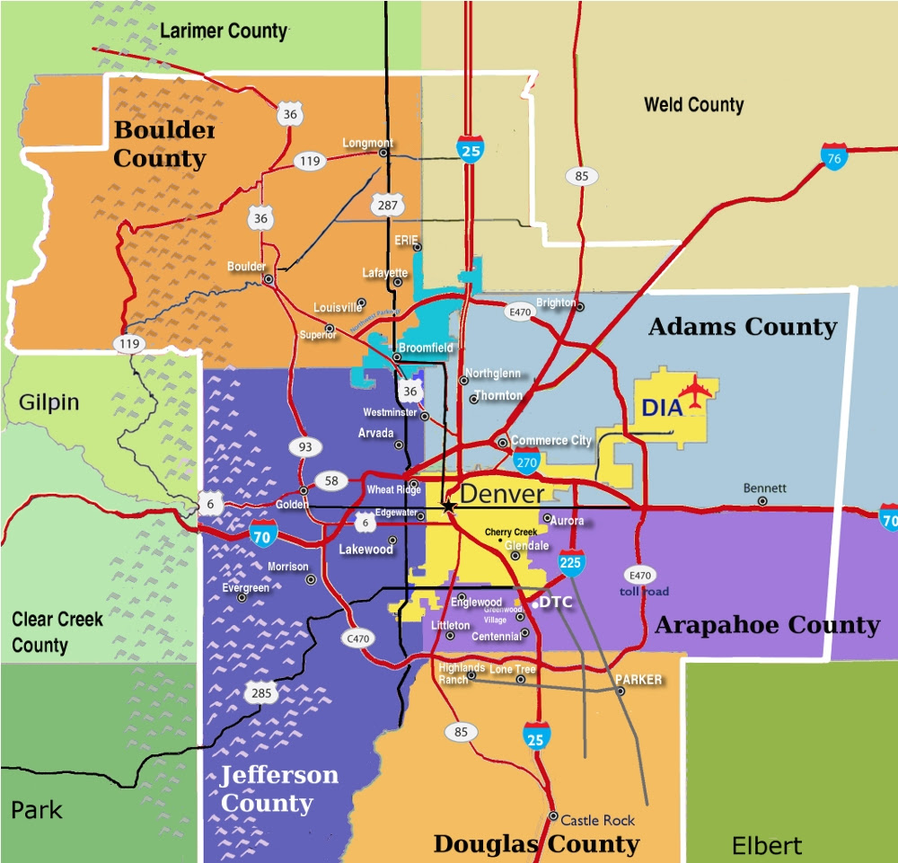 Denver County Map Denver County Maps | GOOGLESAND Denver County Map