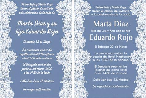 invitaciones de boda  texto  invitaciones de boda