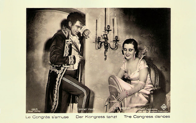 Conrad Veidt and Lil Dagover in Der Kongress tanzt