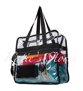 CLEAR NFL TOTE BAG STADIUM APPROVED 12x12x6 Zipper Side Pocket!!!  eBay
