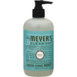 Mrs Meyers Soap, Liquid Hand, Basil Scent - 12.5 fl oz