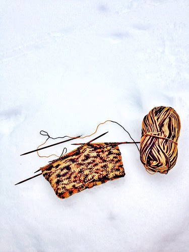 tiger pattern yarn