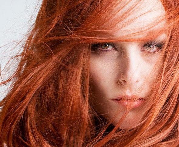 banho de brilho, cabelo vermelho, cabelo ruivo