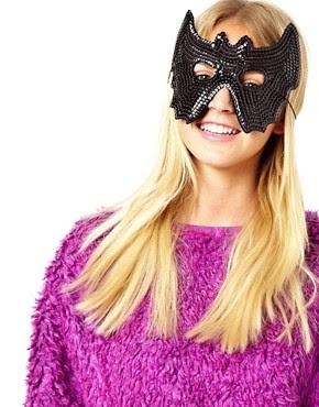 Image 1 ofASOS Bat Sequin Mask