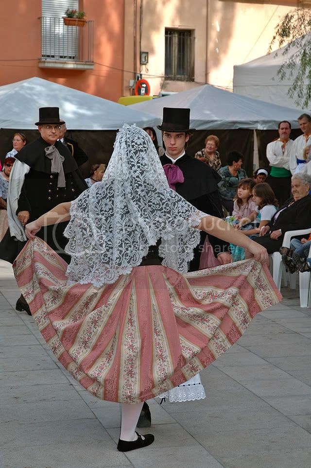 Folk Dancers near Barcelona