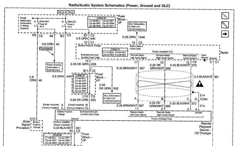 Corvette Wiring Diagram For Bose Car Speaker