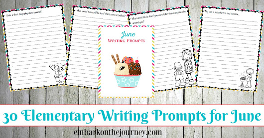 30 Elementary Writing Prompts for June